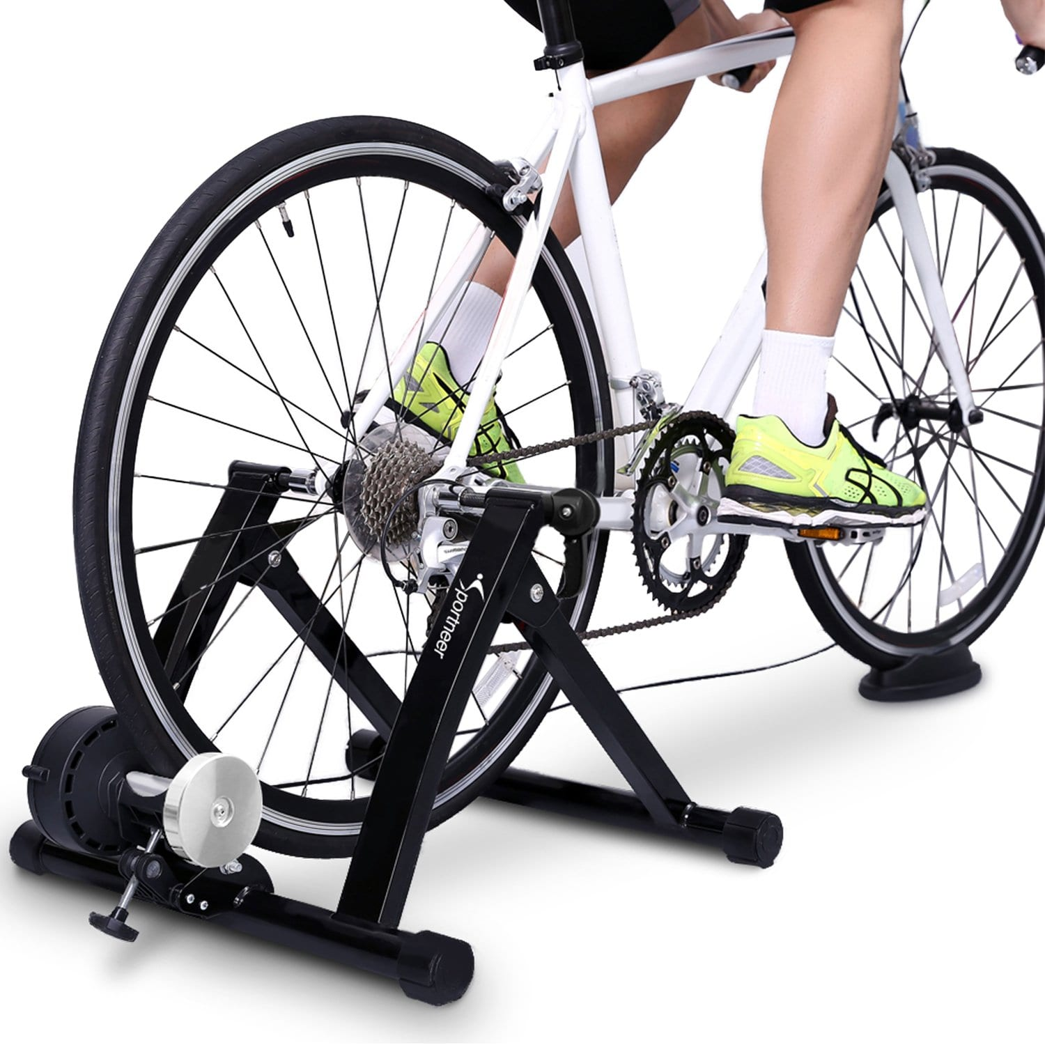 Sportneer Bike Trainer Stand with Noise Reduction Wheel